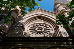 犹太教堂门面在悉尼 免版税库存图片