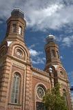 犹太教堂,松博特海伊,匈牙利 免版税库存图片