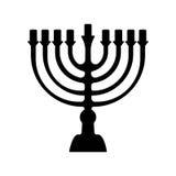 犹太教的Menorah标志 背景指纹例证白色 免版税库存照片