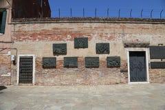 犹太新的少数民族居住区在威尼斯 免版税库存图片