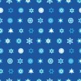犹太星设置了无缝的样式 大卫王之星全国以色列标志 库存例证