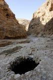 犹太沙漠山风景,以色列 免版税库存照片