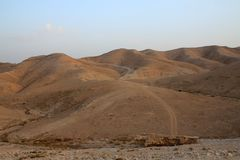 犹太沙漠 库存图片