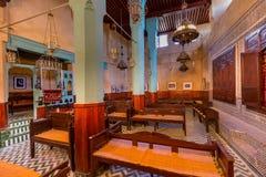 犹太犹太教堂Ibn大湳在Fes麦地那,摩洛哥 免版税库存照片