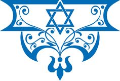 犹太的背景 图库摄影
