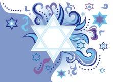 犹太背景高兴的节假日 皇族释放例证