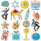 犹太chanukah的曲奇饼 库存图片