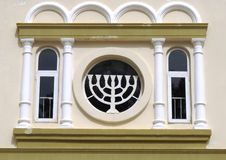 犹太menorah 免版税库存照片