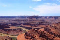 犹他全景 科罗拉多河峡谷 免版税库存照片