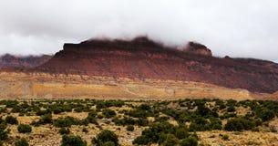 犹他沙漠山风暴 免版税库存图片