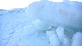 犹他湖结冰的冰紧的射击 股票视频