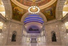 犹他状态国会大厦修造的内部 免版税库存图片