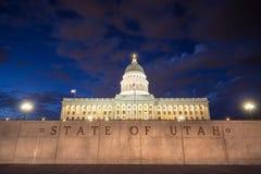 犹他状态国会大厦大厦,盐湖城 免版税库存照片
