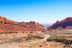 犹他美国段落通过被察觉的狼峡谷 免版税库存照片