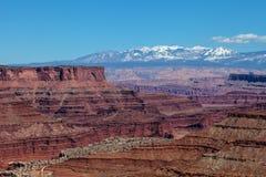 犹他Canyonlands全国珀丽湾在天空区 免版税库存照片
