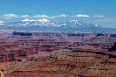 犹他Canyonlands全国珀丽湾在天空区 免版税图库摄影