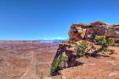 犹他Canyonlands全国珀丽湾在天空区 库存照片