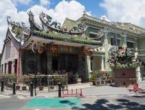狂吠Kongsi寺庙,乔治城,槟榔岛,马来西亚 图库摄影