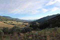 狂放和美丽的爱达荷谷 免版税库存图片