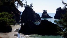 狂放的俄勒冈海岸,美国 库存照片
