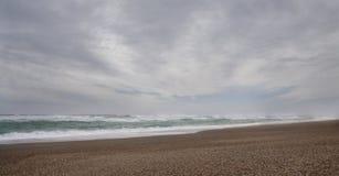 狂放的偏僻的海滩 免版税库存图片
