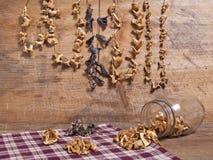 狂放的可食的蘑菇静物画 免版税库存照片