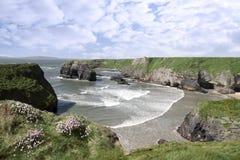 狂放的大西洋处女岩石视图 图库摄影