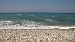 狂放的小卵石海滩 股票录像