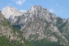 狂放的山在北部阿尔巴尼亚 免版税库存照片