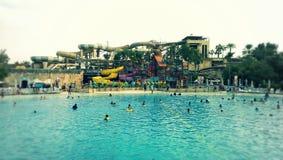 狂放的旱谷水公园,迪拜 免版税库存照片