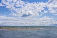 狂放的海滩在都伯林,爱尔兰 免版税库存照片