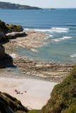狂放的海滩在Hendaye,法国 免版税库存图片