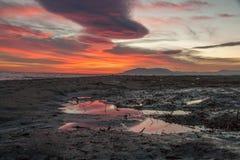 狂放的海滩西班牙安达卢西亚 免版税库存图片