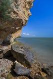 狂放的海滩,罗马尼亚 库存照片