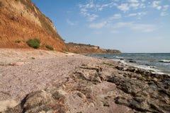 狂放的海滩 库存照片