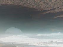 狂放的海滩Legzira 免版税库存照片