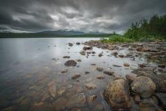 狂放的湖在挪威 免版税库存照片