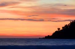 狂放的美丽的海滩斯里兰卡 聚会所 库存照片