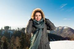 狂放的自然和冬天寒冷 免版税库存照片