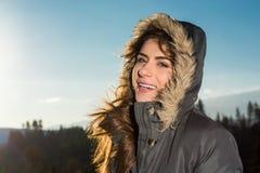 狂放的自然和冬天寒冷 库存照片