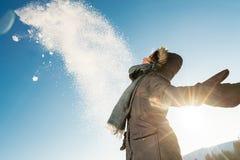 狂放的自然和冬天寒冷 图库摄影