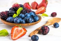 狂放的莓果和薄菏Ð'unch  免版税图库摄影