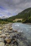 狂放的蒙大拿山小河 免版税库存图片