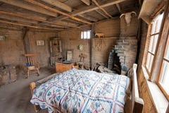 狂放的西部历史的平房建筑内部亚利桑那 图库摄影
