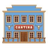 狂放的西部小酒吧 免版税库存图片