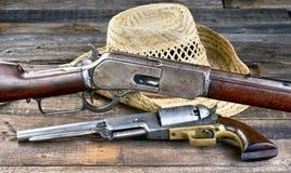狂放的西部枪 库存图片