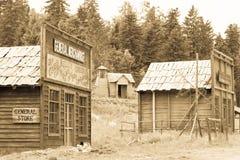 狂放的西部电影布景,在Fuzine北部,克罗地亚 库存照片