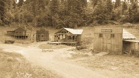 狂放的西部电影布景,在Fuzine北部,克罗地亚 免版税库存照片