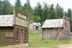 狂放的西部电影布景,在Fuzine北部,克罗地亚 免版税图库摄影