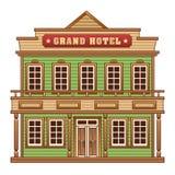 狂放的西部盛大旅馆 免版税库存图片